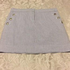 J. Crew seersucker skirt